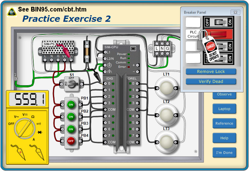 troubleshooting-circuits Wiring Contactor on